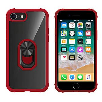 BackCover Ring for Apple iPhone 8 Plus - 7 Plus - 6 Plus Transparent Red