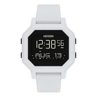Nixon horloge A1210-100-00-SIRENe armband silicone witte Bo tier staal wit Carr mannen/vrouwen
