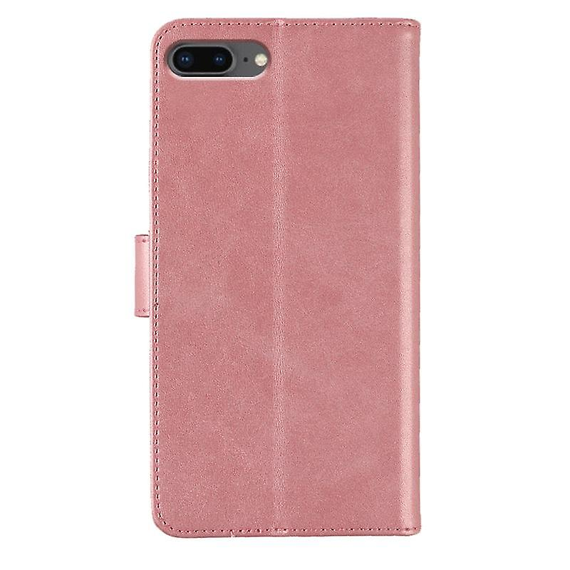 CaseGate phone case for Apple iPhone 7 / 7S / 8 case cover - in pink - lock, stand function and card compartment