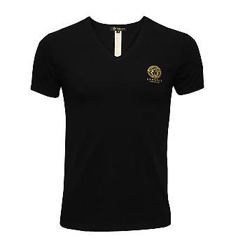 Versace ikoniska V-Neck T-shirt, svart
