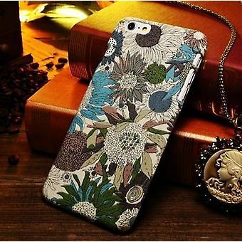 Para iPhone 6S PLUS, 6 PLUS Caso, expresiva flor-patrón tela cubierta protectora