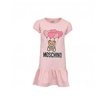 Moschino Frill Hem Toy Dress With Hearts