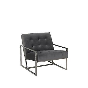 Light & Living Chair 71x81x70cm Geneve Velvet Grey