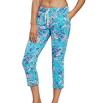 Rösch 1202030-16501 Women's Be Happy Blue Summer Bloom Floral Pyjama Pant