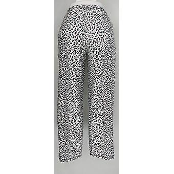 Carole Hochman Women's Pajama Pants Tall Waffle Novelty White A311261