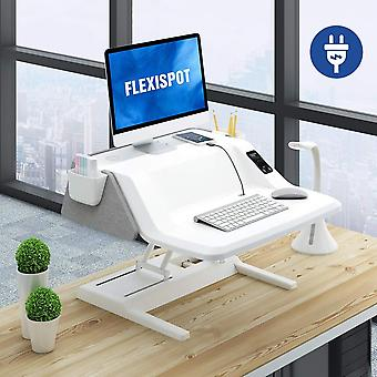 FLEXISPOT Sit Stand Smart Workstation EM6S - Moottoroitu korkeus Säädettävä Stand up Desk Riser