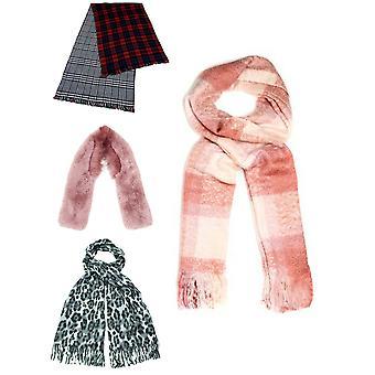 Womens Fashion Soft Warm Winter Scarf Fur Cashmere Shawl Accessorises New