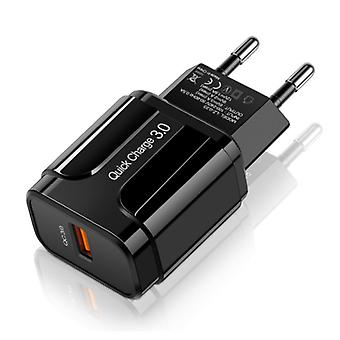 OLAF Qualcomm Quick Charge 3.0 USB Wall Charger Wallcharger AC Home Charger Plug Charger Adapter - Black
