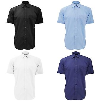 Kustom Kit Mens curto manga camisa do negócio