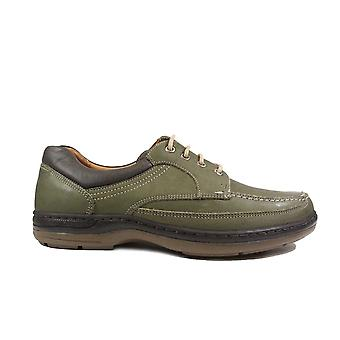 Anatomic Guruppi Olive Leather Mens Wide Fit Lace Up Shoes