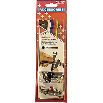 FASTECH® 804-06C Gancho e laço de cabo para agrupar gancho e almofada de loop (L x W) 250 mm x 13 mm Multicolorido 10 pc(s)