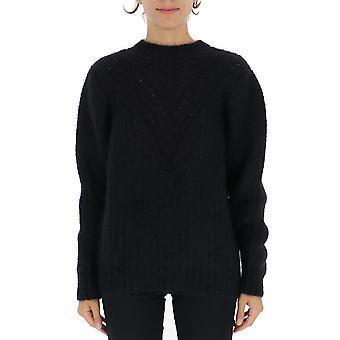 Alberta Ferretti 09245103v0555 Women's Black Wool Sweater