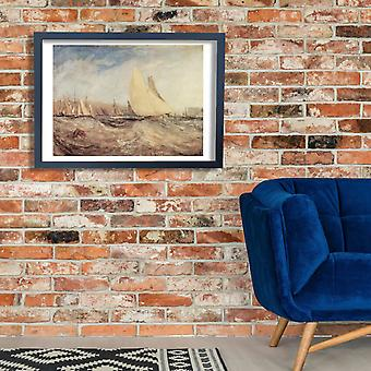 Joseph Mallord William Turner - Waves Poster Print Giclee