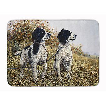 Two Springer Spaniels by Michael Herring Machine Washable Memory Foam Mat