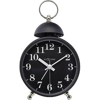 NeXtime - Wecker – ca. 16 cm - Metall – Schwarz – Lauter Alarm- 'Single Bell'