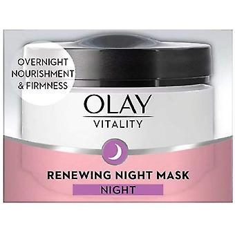 2 x Olay Vitality Renewing Night Mask Night 50ml - New In Box