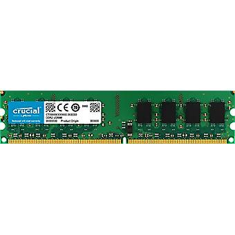 Crucial CT25664AA800 Memory, DDR2, 800 MHz, PC2-6400, Unbuffered, DIMM, 240-Pin, 2 GB