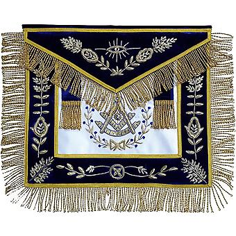 Frimurer grand lodge forbi master forkle hånd brodert bullion