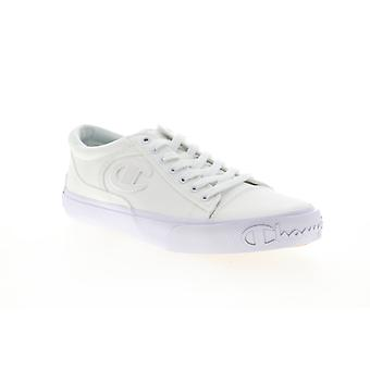 Champion Metro LO  Mens White Canvas Lace Up Low Top Sneakers Shoes