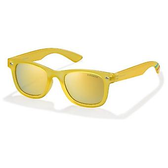 Polaroid Junior PLD8009/N PVI/LM Transparent Yellow/Polarised Grey Gold Mirror ** Sunglasses