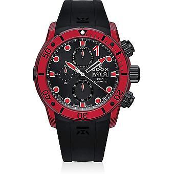 Edox - Wristwatch - Men - CO-1 - Carbon Chronograph Automatic - 01125 CLNRN NINRO