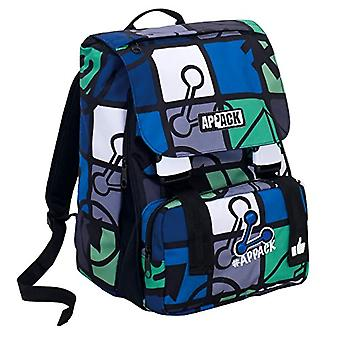 Appack Extensive School Backpack - ICON SET - Blue - 28 Lt - elementary and middle school