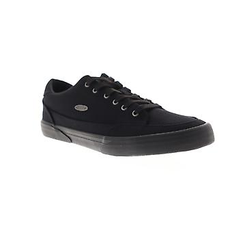Lugz Stockwell Mens Black Canvas Low Top Lace Up Sneakers Shoes