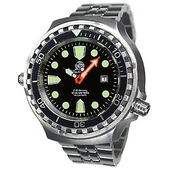 Tauchmeister T0285M Automatic Dive watch XXL with steel band 1000 m