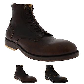 Mens H By Hudson Mckendrick Calf Leather Smart Formal Work Ankle Boots