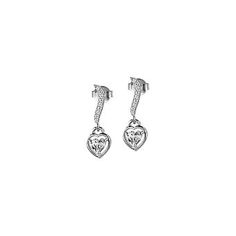 Jacques Lemans - Sterling Silver Studs valkoinen Topaz - SE-O120A