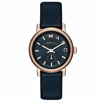 Marc Jacobs MBM1331 Mini Baker Rose Gold Blue Leather Strap Ladies Watch