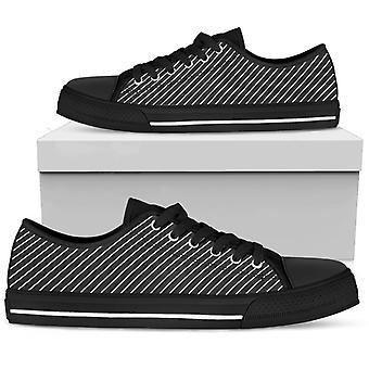 Low Top Shoes | B&W Stripes