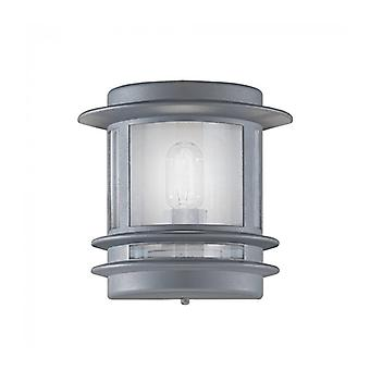 Silver Color Barbican Garden Wall Light 1 Light Bulb
