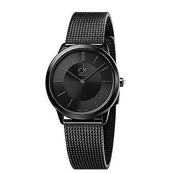 Calvin Klein K3M224B1 Analog Business Minimal Black Unisex Watch