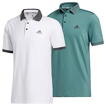 adidas Golf Mens 2020 Ultimate365 Pop Print Short Sleeve Polo Shirt