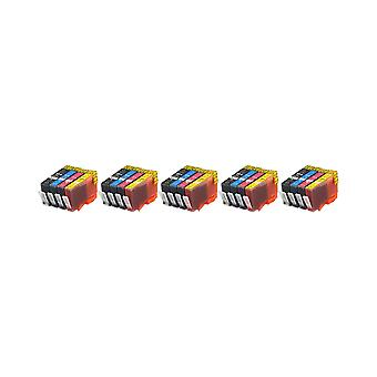 RudyTwos 5x Replacement for HP 364XL Set Ink Unit Black Cyan Magenta & Yellow Compatible with Photosmart 7510, 7520, B8550, B8553, B8558, C5324, C5370, C5373, C5380, C5383, C5388, C5390, C5393, C6324,