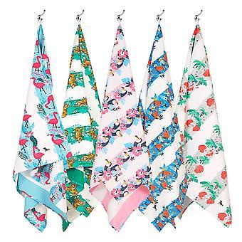 Dock & bay quick dry beach towels - jungle - set of 5