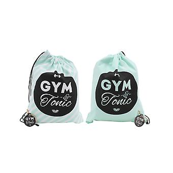 CGB Giftware Gym And Tonic Mint Double Sided Shoe Bag