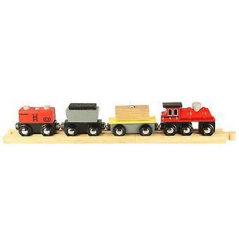 Bigjigs träjärnväg godståg