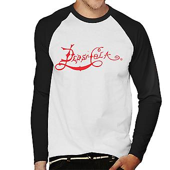 Pepsi Cola 1898 Logo Men's Baseball Long Sleeved T-Shirt