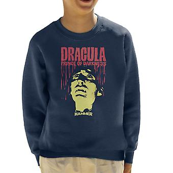 Hammer Dracula Prince Of Darkness Poster Kid's Sweatshirt
