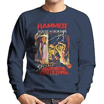 Hammer Frankenstein Crea La Femme Poster Men es Sweatshirt