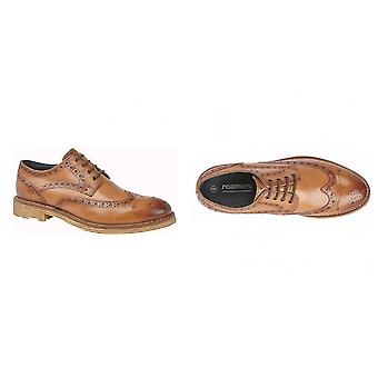 Roamers Gibson Mens 4 Eyelet Leather Brogue