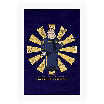 Chief Randall Crawford Retro Japanese A4 Print