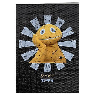 Zippy Retro Japanese Rainbow Greeting Card