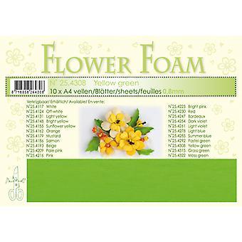 Leane Creatief Flower Foam Sheets AA Yellow Green