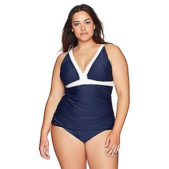 Brand - Coastal Blue Plus Size Bikini Bottom, New Navy, 1X
