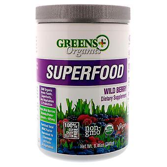Greens Plus, Organics Superfood, Wild Berry, 8.46 oz (240 g)