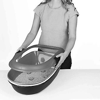Stefanplast Furba Chic Sifting Litter Tray With Rim Denim/White - 59x39x22cm
