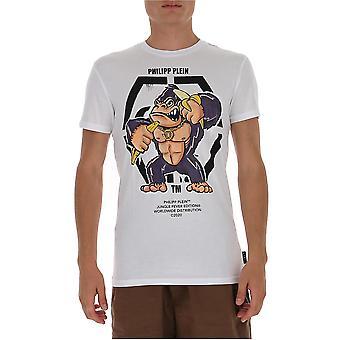 Philipp Plein F20cmtk4555pjy002n01 Heren's Wit Katoen T-shirt